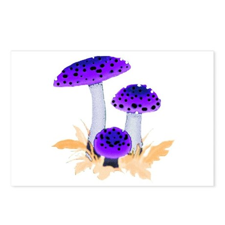 Purple Mushrooms Postcards (Package of 8)