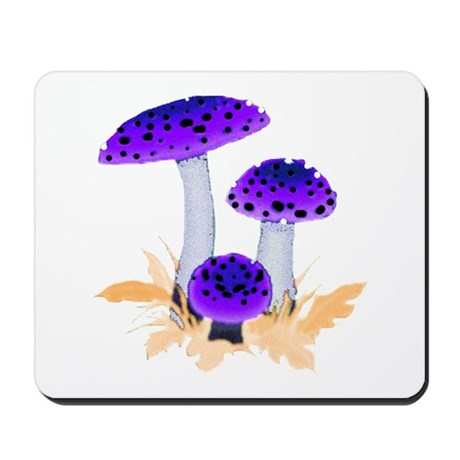 Purple Mushrooms Mousepad