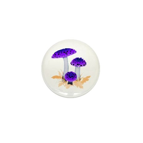 Purple Mushrooms Mini Button (10 pack)