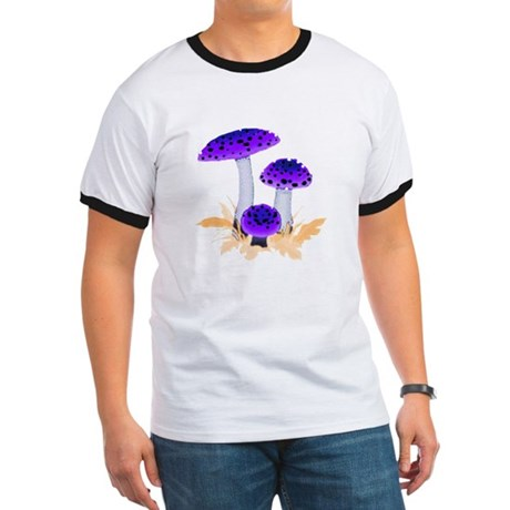 Purple Mushrooms Ringer T