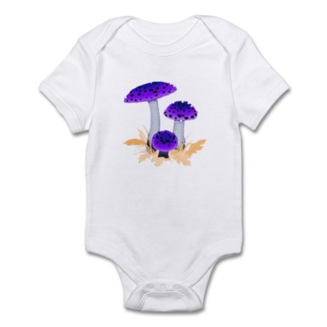 Purple Mushrooms Infant Bodysuit