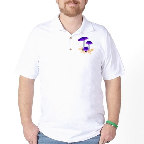 Purple Mushrooms Golf Shirt