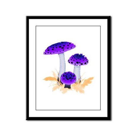 Purple Mushrooms Framed Panel Print