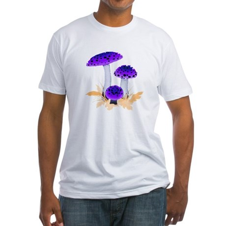 Purple Mushrooms Fitted T-Shirt