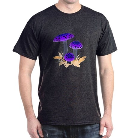 Purple Mushrooms Dark T-Shirt