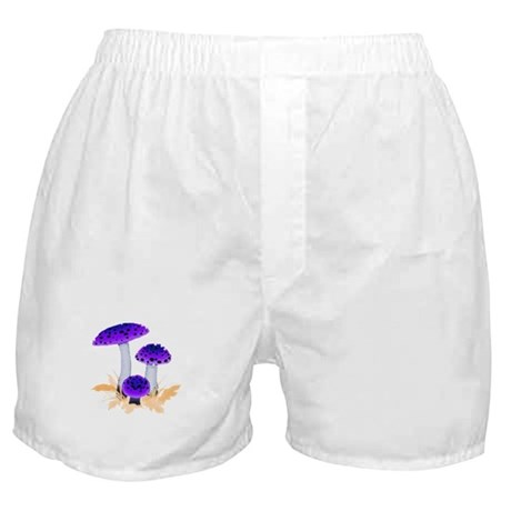 Purple Mushrooms Boxer Shorts
