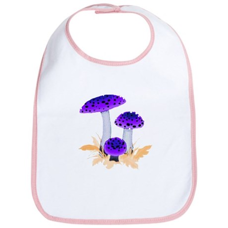 Purple Mushrooms Bib
