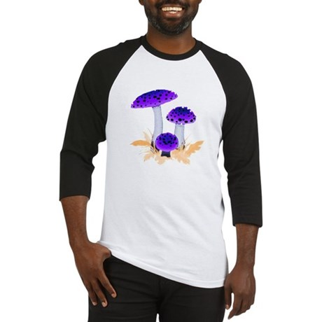 Purple Mushrooms Baseball Jersey