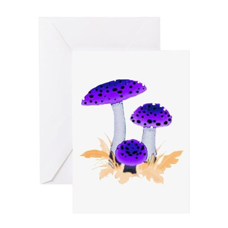 Purple Mushrooms Greeting Card