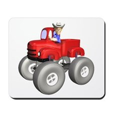 Red Monster Truck Mousepad