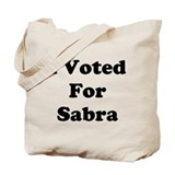 Voted for Sabra Tote Bag