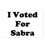 Voted for Sabra Postcards (Package of 8)