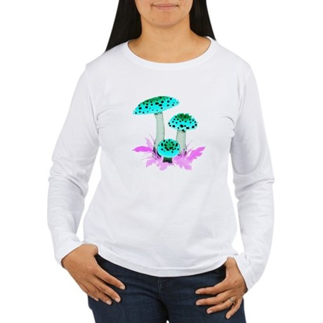 Teal Mushrooms Women's Long Sleeve T-Shirt