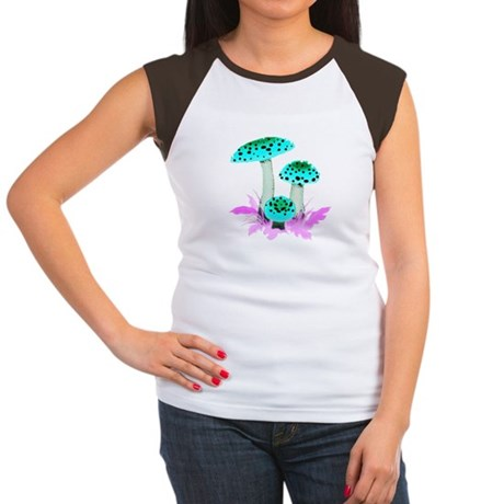 Teal Mushrooms Women's Cap Sleeve T-Shirt