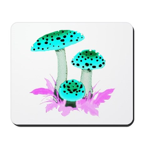 Teal Mushrooms Mousepad