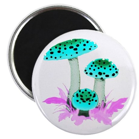 "Teal Mushrooms 2.25"" Magnet (100 pack)"
