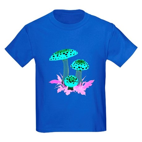 Teal Mushrooms Kids Dark T-Shirt