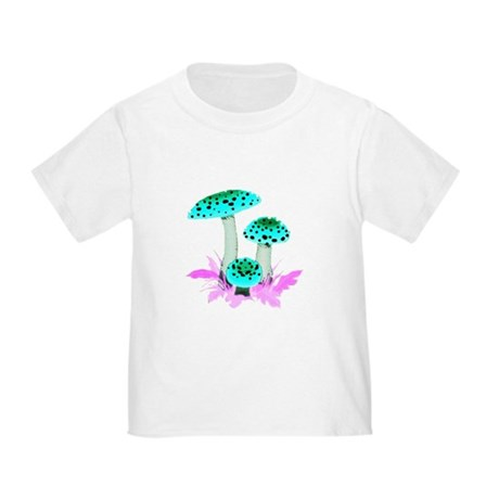 Teal Mushrooms Toddler T-Shirt