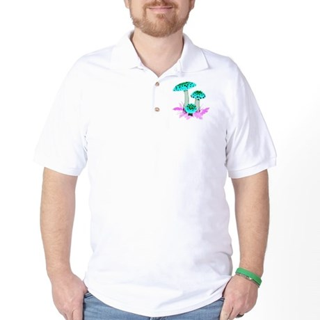 Teal Mushrooms Golf Shirt