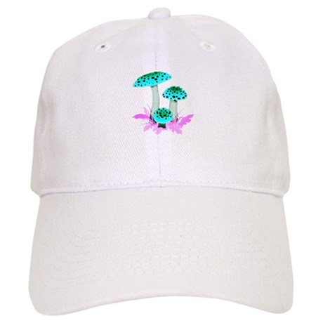 Teal Mushrooms Cap
