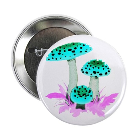 "Teal Mushrooms 2.25"" Button (100 pack)"