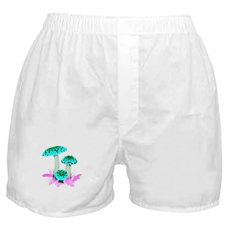 Teal Mushrooms Boxer Shorts