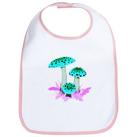 Teal Mushrooms Bib