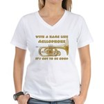 With a Name Like Mellophone Women's V-Neck T-Shirt