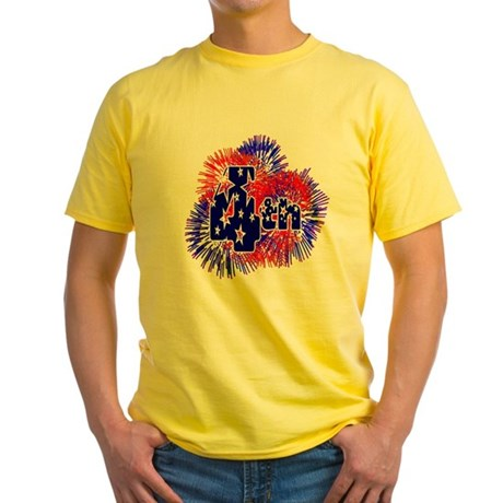 Fourth of July Yellow T-Shirt