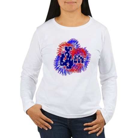 Fourth of July Women's Long Sleeve T-Shirt