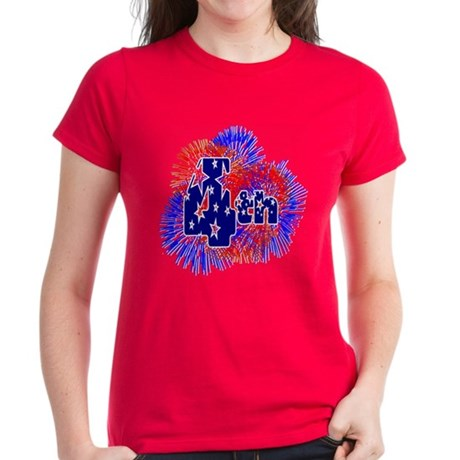 Fourth of July Women's Dark T-Shirt