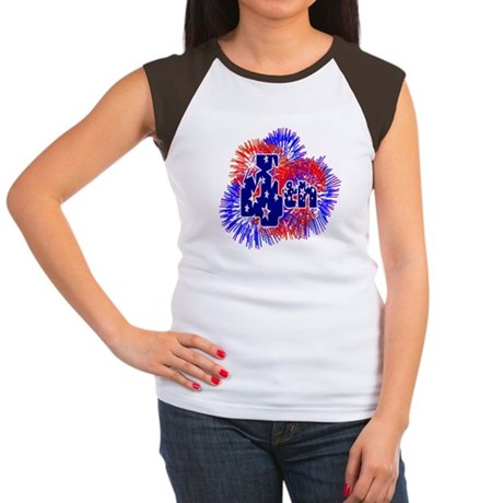 Fourth of July Women's Cap Sleeve T-Shirt