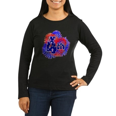 Fourth of July Women's Long Sleeve Dark T-Shirt