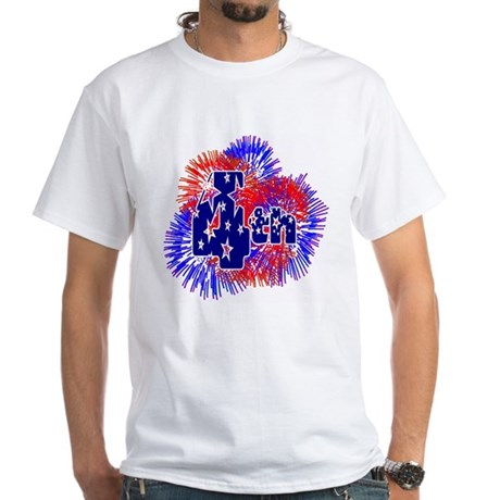 Fourth of July White T-Shirt