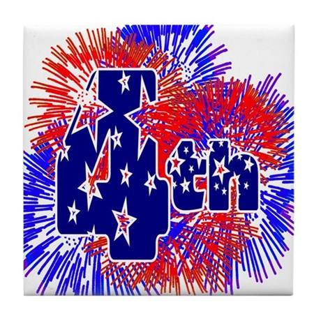 Fourth of July Tile Coaster
