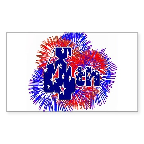 Fourth of July Rectangle Sticker
