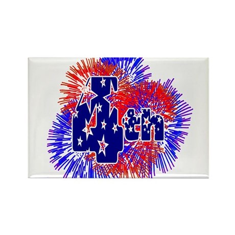 Fourth of July Rectangle Magnet (100 pack)