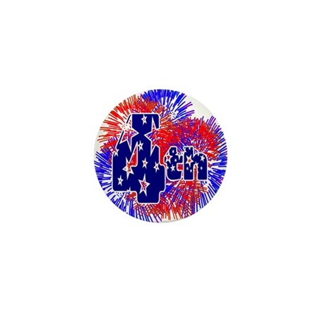 Fourth of July Mini Button