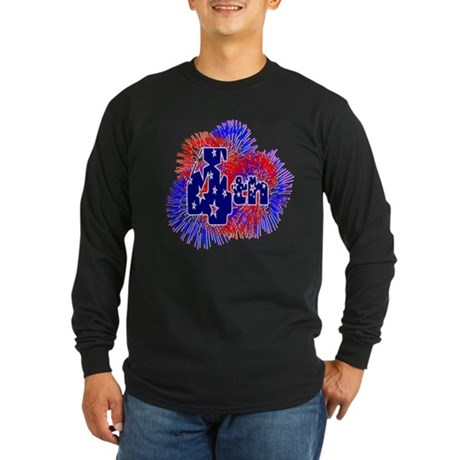 Fourth of July Long Sleeve Dark T-Shirt