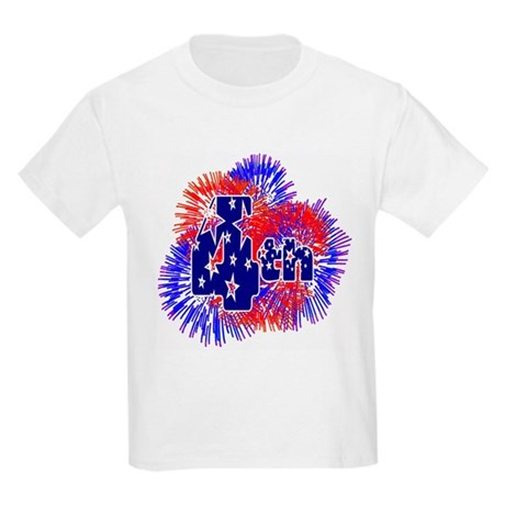 Fourth of July Kids Light T-Shirt