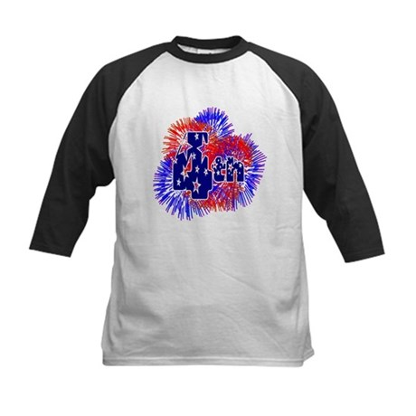 Fourth of July Kids Baseball Jersey