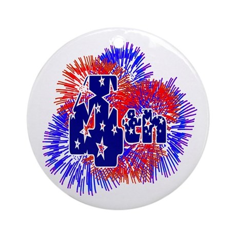 Fourth of July Ornament (Round)