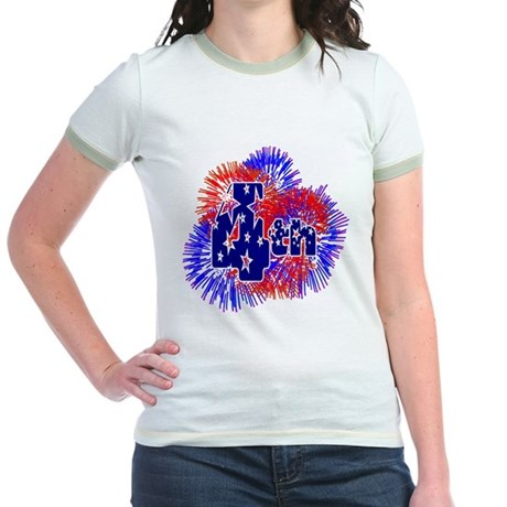 Fourth of July Jr. Ringer T-Shirt