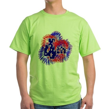 Fourth of July Green T-Shirt