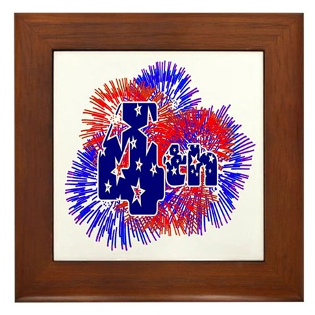 Fourth of July Framed Tile