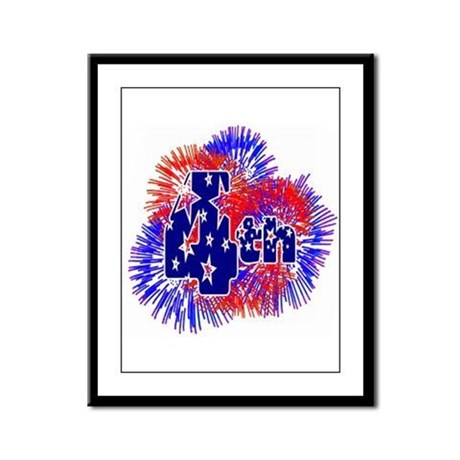 Fourth of July Framed Panel Print