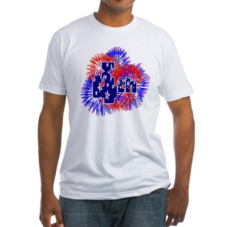 Fourth of July Fitted T-Shirt