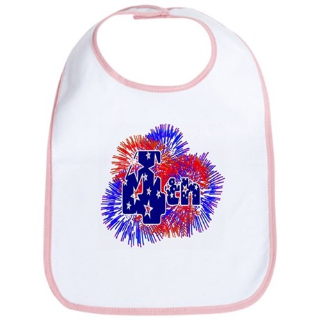 Fourth of July Bib