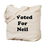 Voted For Neil Tote Bag