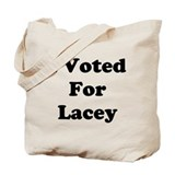 Voted For Lacey Tote Bag